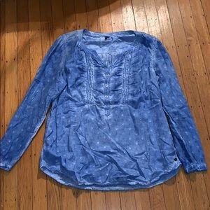 Cecil Unique Blue Wash Top Size Large